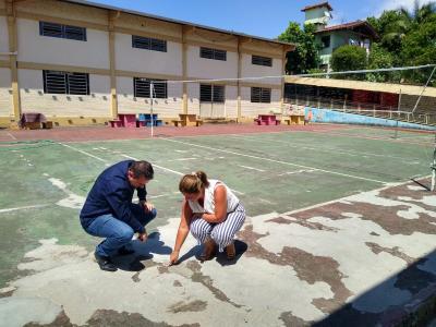 Reges Junges visita Escola 12 de maio como prefeito