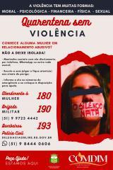 Não à violência contra a Mulher